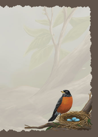 Advice from a Robin Greeting Card - Blank