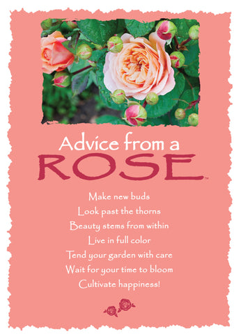 Advice from a Rose Greeting Card - Blank