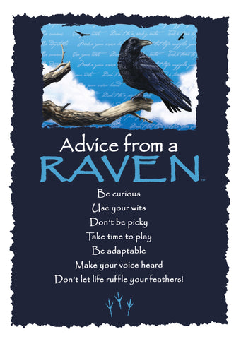 Advice from a Raven Greeting Card - Blank
