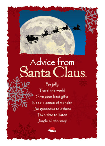 Advice from Santa Claus Greeting Card - Blank