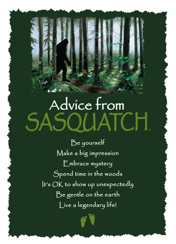 Advice from Sasquatch Greeting Card - Blank