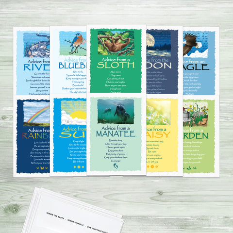 Advice from Nature Bring Joy Greeting Card Set (Blank 10 pack)