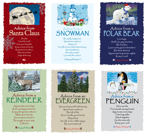 Advice from Nature Christmas Greeting Card Set (Blank 12 pack)