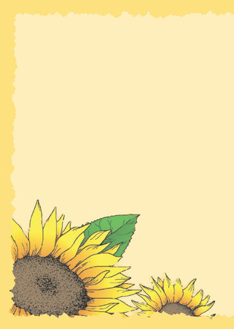 Advice from a Sunflower Greeting Card - Blank