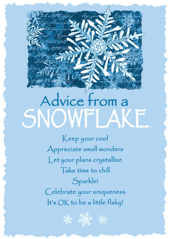 Advice from a Snowflake Greeting Card - Blank
