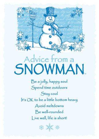 Advice from a Snowman Greeting Card - Blank