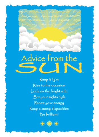 Advice from the Sun Greeting Card - Blank