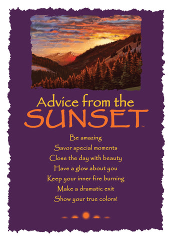 Advice from the Sunset Greeting Card - Blank