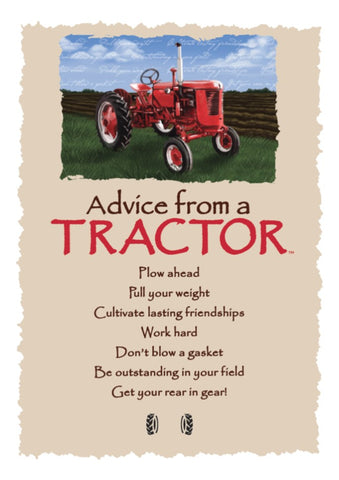 Advice from a Tractor Greeting Card - Blank