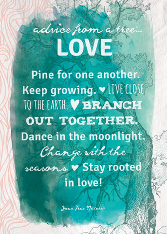 Advice from a Tree-Love-Green Greeting Card - Blank