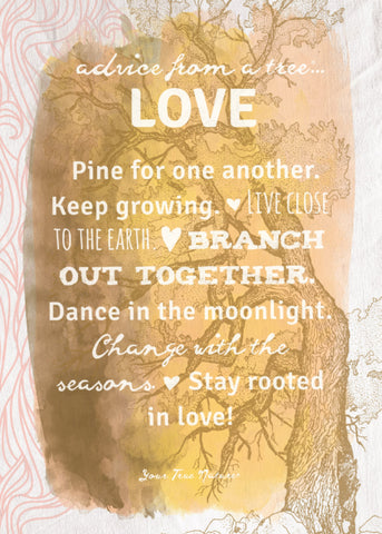 Advice from a Tree-Love-Yellow Greeting Card - Blank