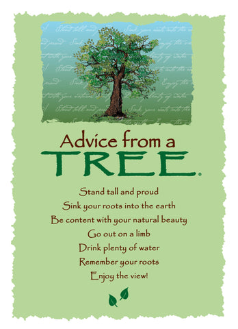 Advice from a Tree Greeting Card - Blank
