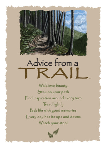 Advice from a Trail Greeting Card - Blank