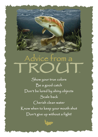 Advice from a Trout Greeting Card - Blank
