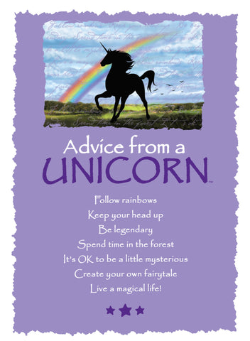 Advice from a Unicorn Greeting Card - Blank