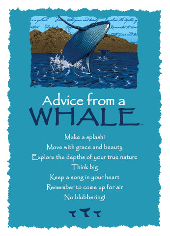 Advice from a Whale Greeting Card - Blank