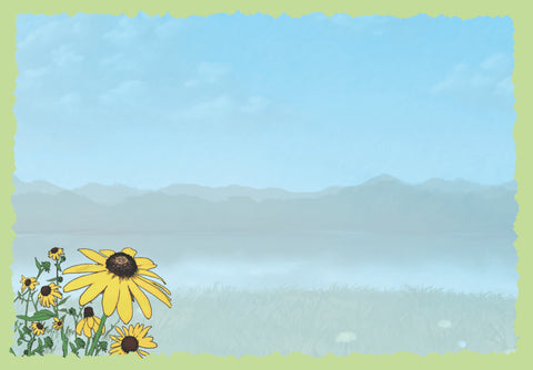 Advice from a Wildflower Greeting Card - Blank