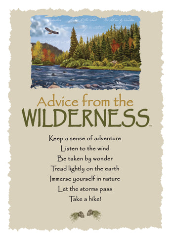 Advice from the Wilderness Greeting Card - Blank