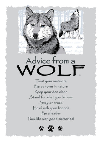Advice from a Wolf Greeting Card - Blank
