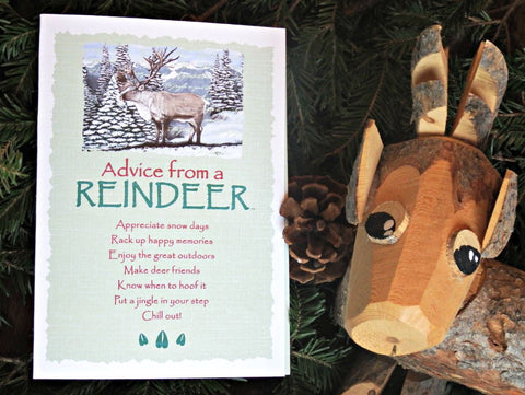 Advice from a Reindeer Greeting Card - Blank