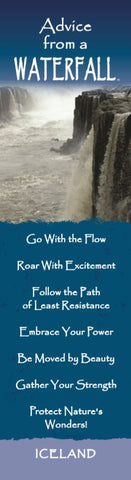 Advice from a Waterfall - Iceland Laminated Bookmark