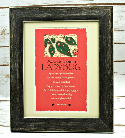 Advice from a Ladybug Framed Mini Matted Print