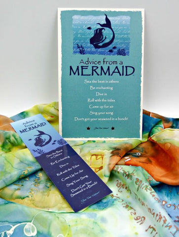 Advice from a Mermaid Laminated Bookmark