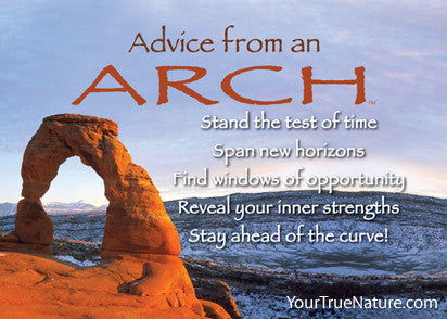 Advice from an  Arch - Arches National Park Jumbo Magnet