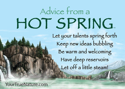 Advice from a Hot Spring Jumbo Magnet