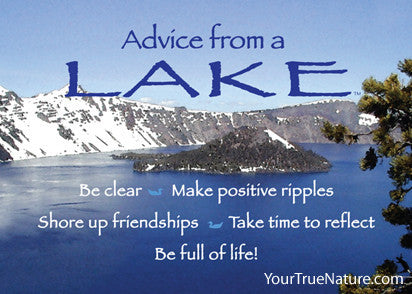 Advice from a Lake - Crater Lake National Park Jumbo Magnet