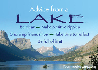 Advice from a Lake - Glacier National Park Jumbo Magnet