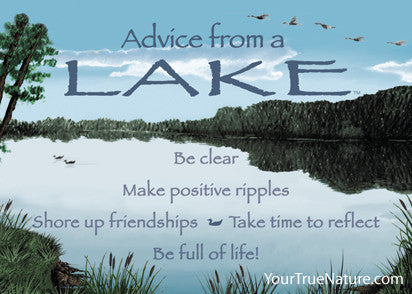 Advice from a Lake Jumbo Magnet