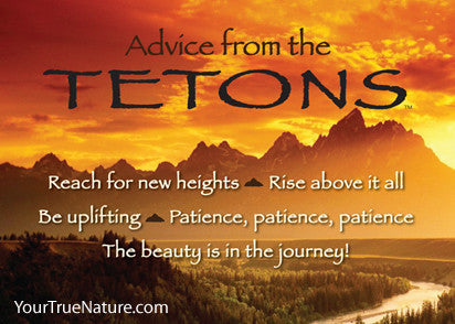 Advice from the Tetons Jumbo Magnet
