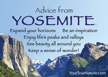 Advice from Yosemite -  Yosemite National Park Jumbo Magnet
