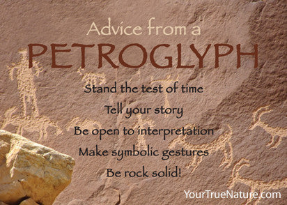 Advice from a Petroglyph Jumbo Magnet
