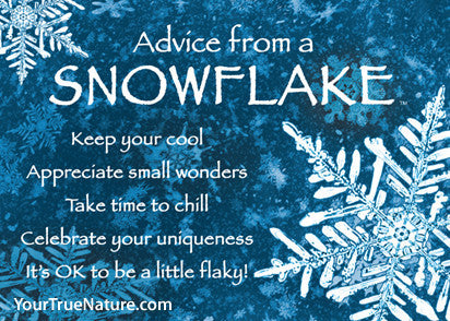 Advice from a Snowflake Jumbo Magnet