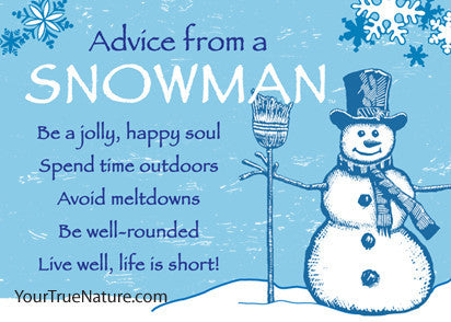 Advice from a Snowman Jumbo Magnet