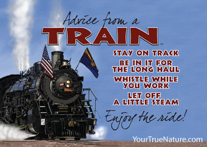 Advice from a Train - Grand Canyon National Park Jumbo Magnet