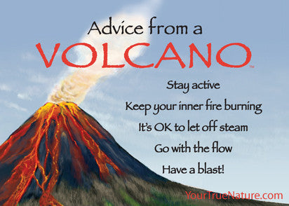 Advice from a Volcano Jumbo Magnet