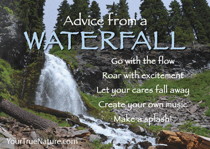 Advice from a Waterfall - Crater Lake National Park Jumbo Magnet