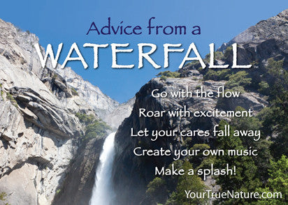 Advice from a Waterfall - Yosemite National Park Jumbo Magnet