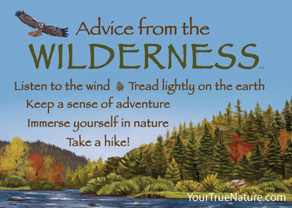Advice from the Wilderness Jumbo Magnet