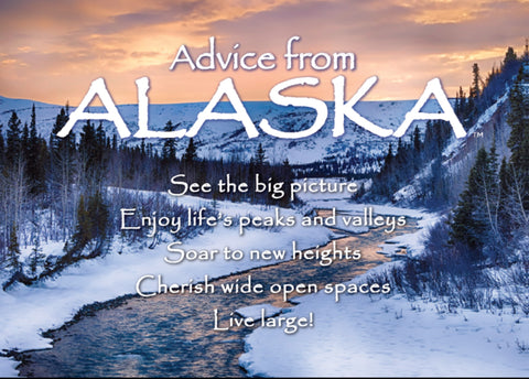 Advice from Alaska- Winter- Jumbo Magnet