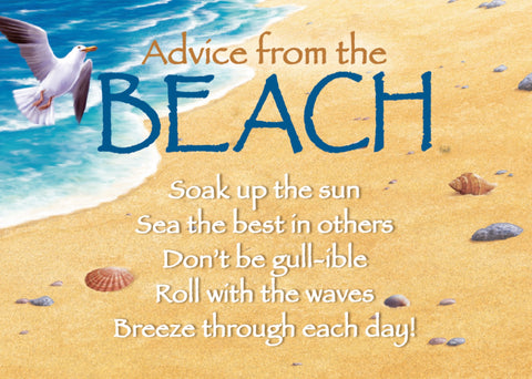 Advice from the Beach Jumbo Magnet