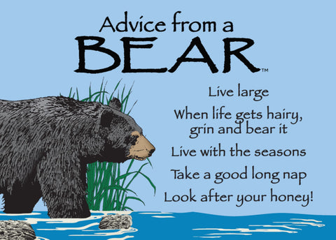 Advice from a Bear Jumbo Magnet