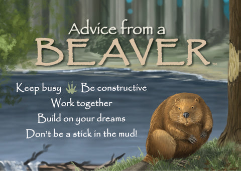 Advice from a Beaver Jumbo Magnet