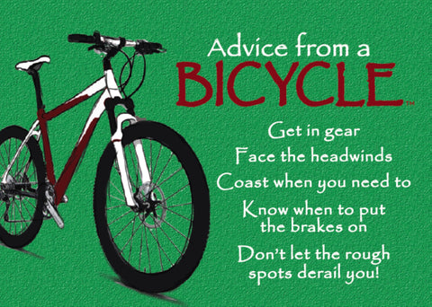 Advice from a Bicycle Jumbo Magnet