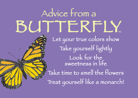 Advice from a Butterfly Jumbo Magnet
