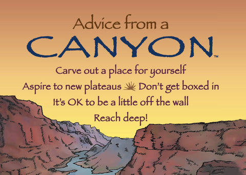 Advice from a Canyon Jumbo Magnet