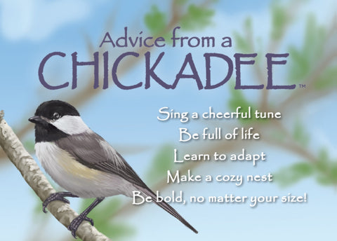 Advice from a Chickadee Jumbo Magnet